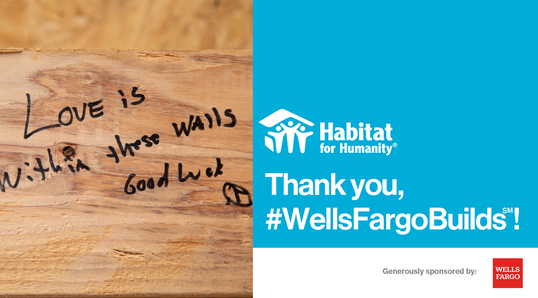 Special thanks to Wells Fargo for their generous contribution!